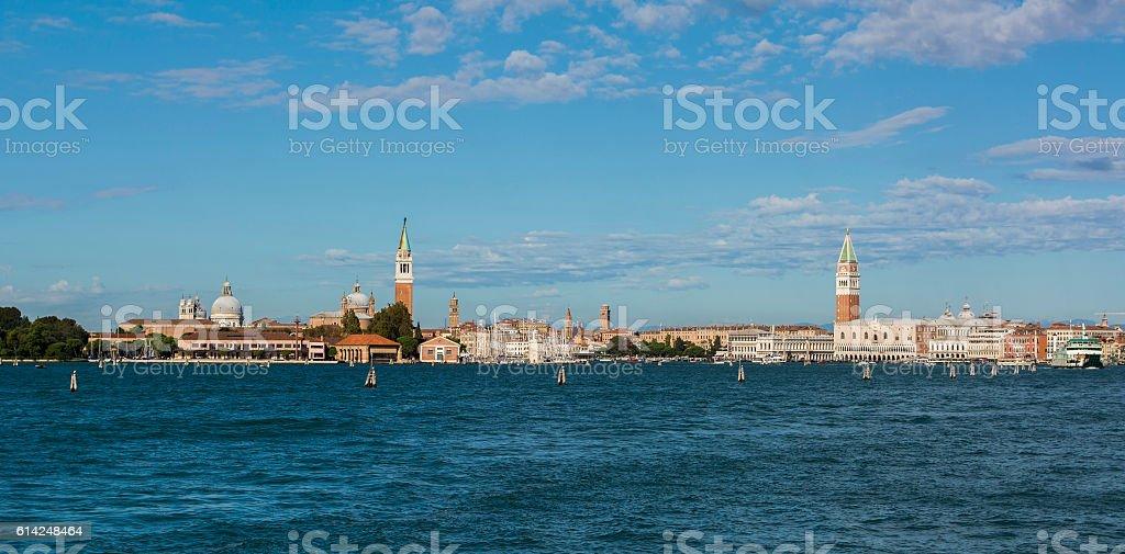 Panorama of Venice, Italy (Venezia, Veneto, Italia) stock photo
