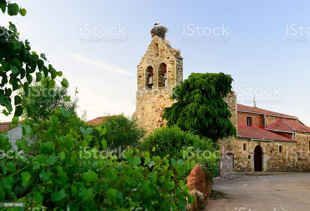 Panorama of Villaferrueña (Zamora-Spain) stock photo