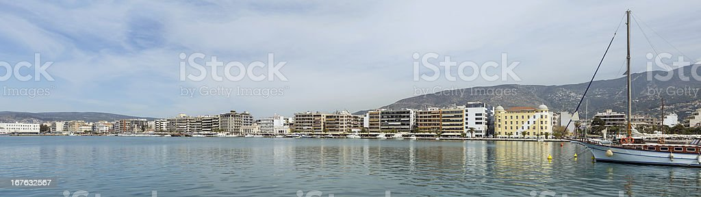 Panorama of Volos waterfront, Thessaly, Greece royalty-free stock photo