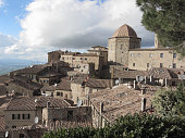 Panorama of Volterra village, province of Pisa . Tuscany, Italy
