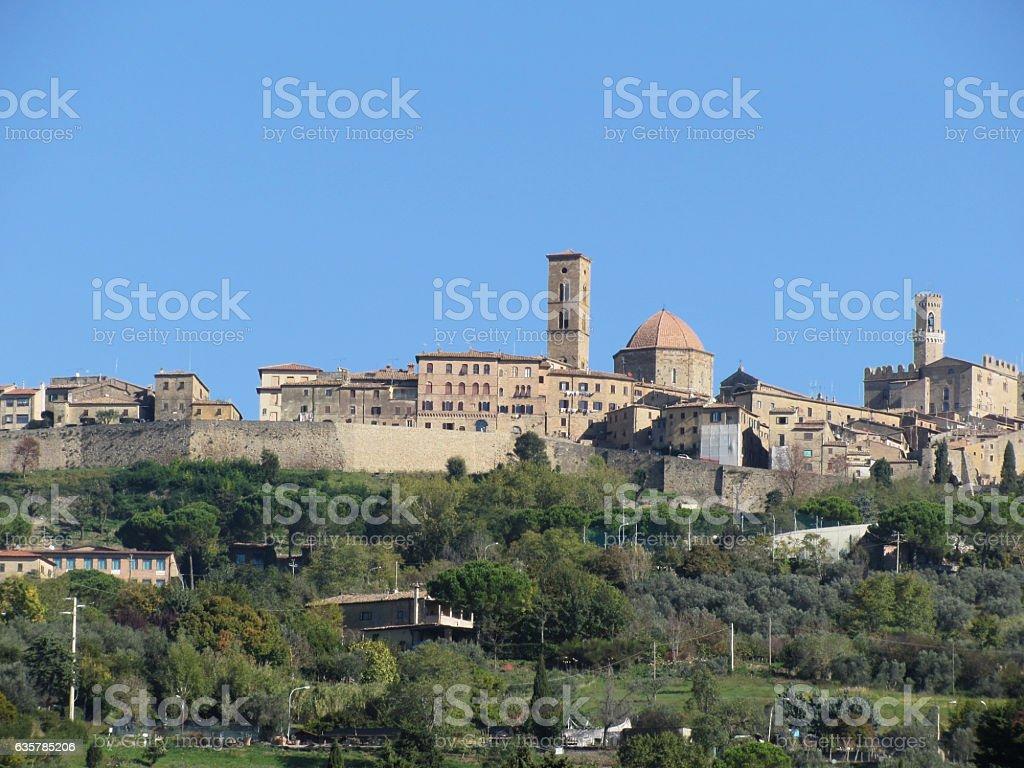 Panorama of Volterra village, province of Pisa . Tuscany, Italy stock photo