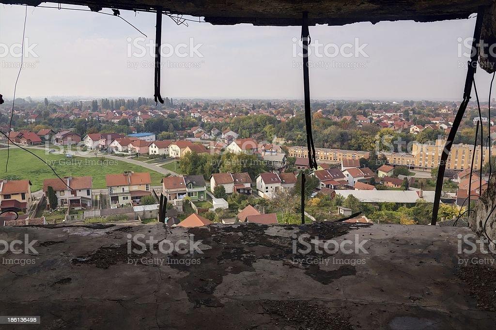 Panorama of Vukovar royalty-free stock photo