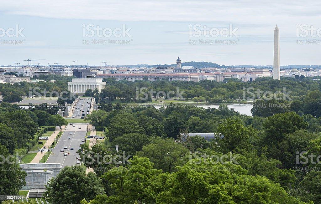 Panorama of Washington, D.C. USA royalty-free stock photo