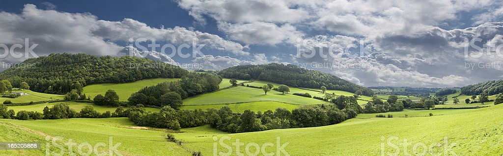 Panorama of welsh countryside royalty-free stock photo