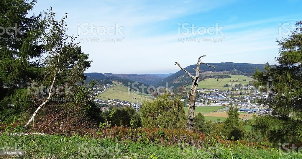Panorama of Willingen stock photo