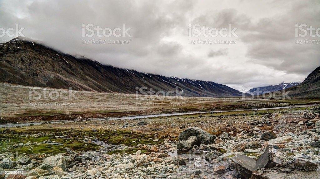 Panorama of Yasin Valley, Gilgit-Baltistan Province Pakistan stock photo