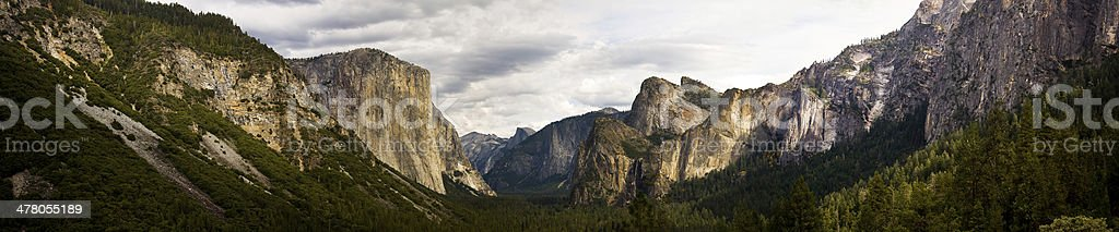 Panorama of Yosemite National Park California Valley royalty-free stock photo