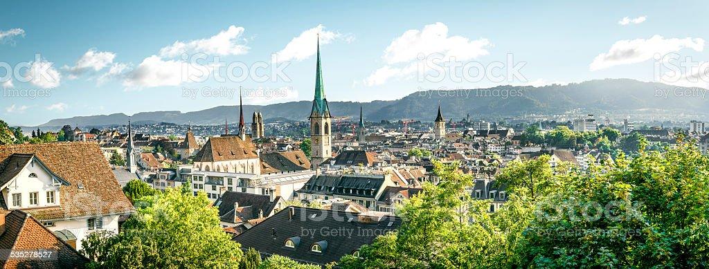 Panorama of Zurich, Switzerland stock photo