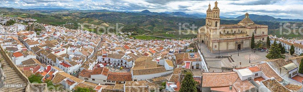Panorama Olvera Cadiz stock photo