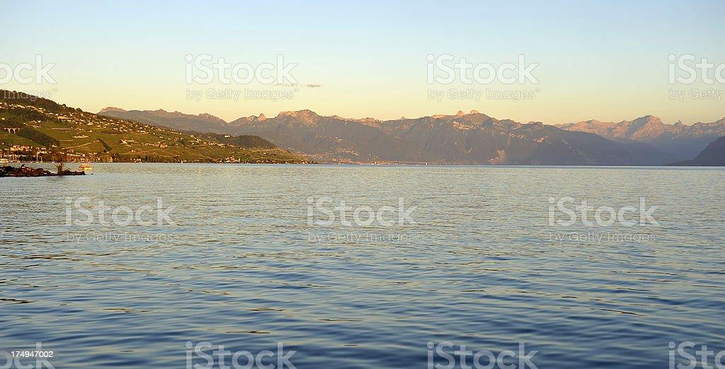 Panorama on the Riviera Vaudoise royalty-free stock photo