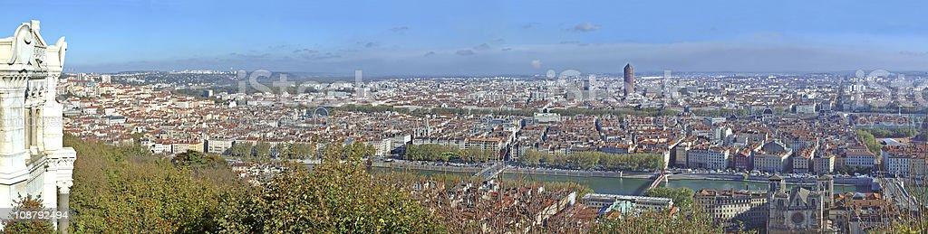 Panorama over Lyon (France) stock photo
