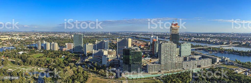 Panorama over Vienna royalty-free stock photo