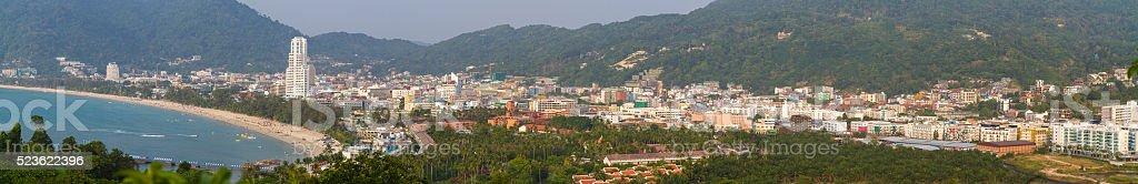 panorama patong view thailan stock photo