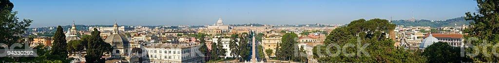Panorama Piazza del Popolo, Roma royalty-free stock photo