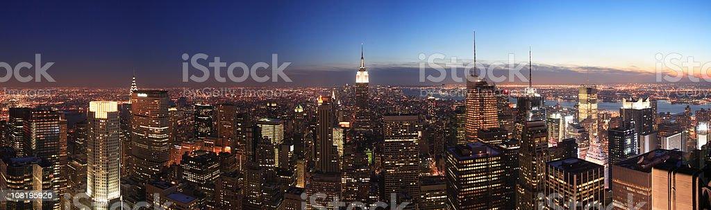 NYC Panorama royalty-free stock photo