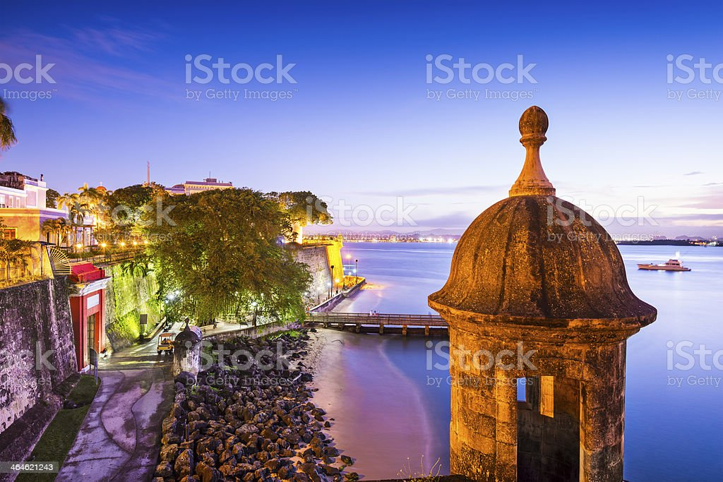 Panorama picture of San Juan in Puerto Rico stock photo