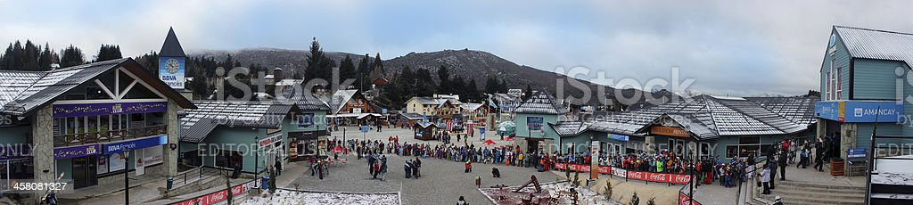 Panorama picture of the Ski Resort at CERRO CATEDRAL royalty-free stock photo