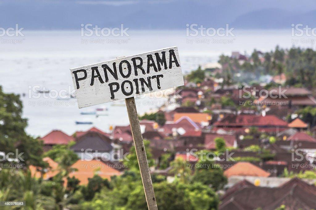 Panorama point stock photo