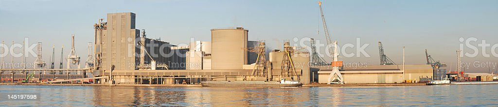 Panorama port of Antwerp royalty-free stock photo