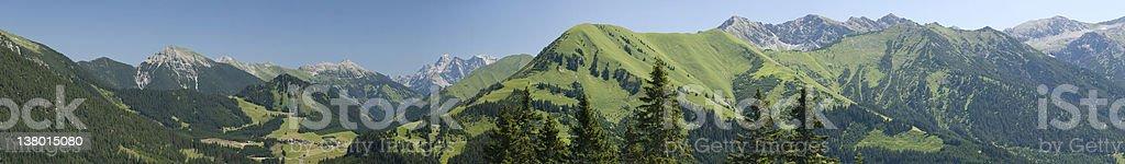 """XXL Panorama """"Berwangertal"""" royalty-free stock photo"""