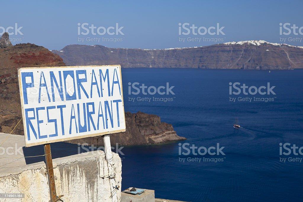 Panorama Restaurant Sign stock photo