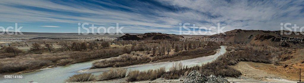 Panorama river stock photo