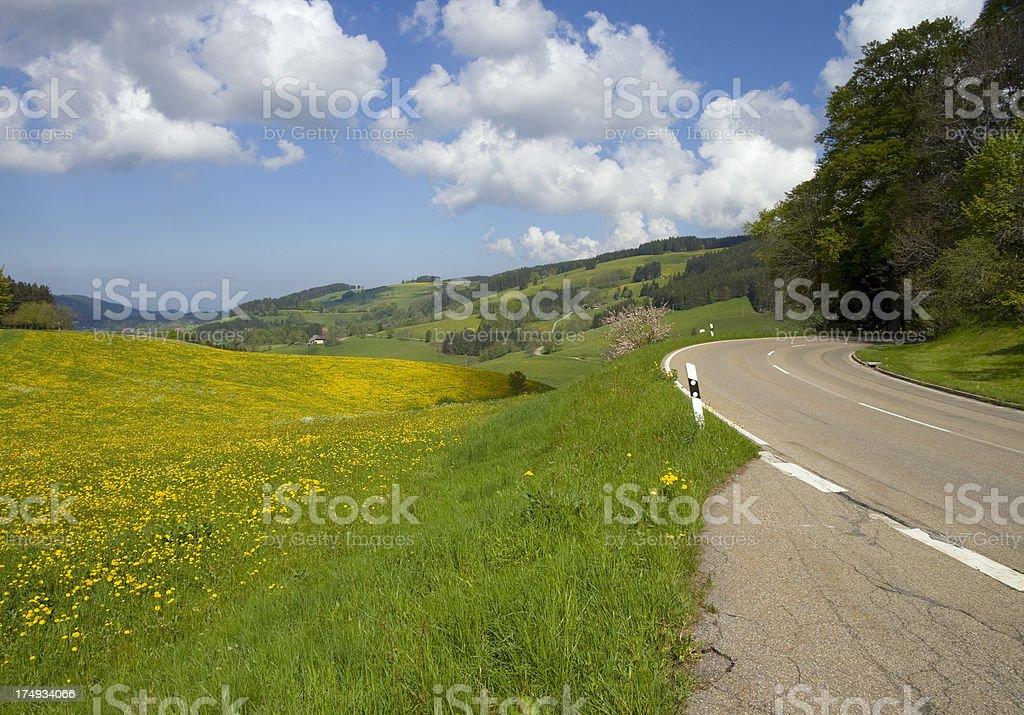 panorama road royalty-free stock photo