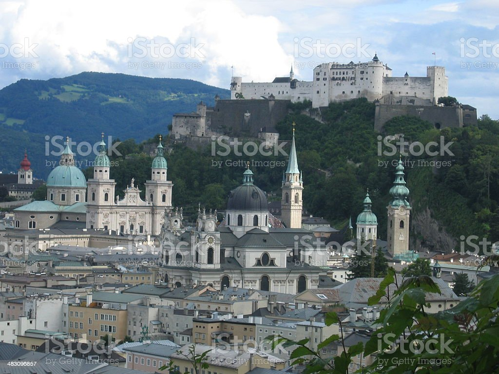 panorama Salzburg royalty-free stock photo