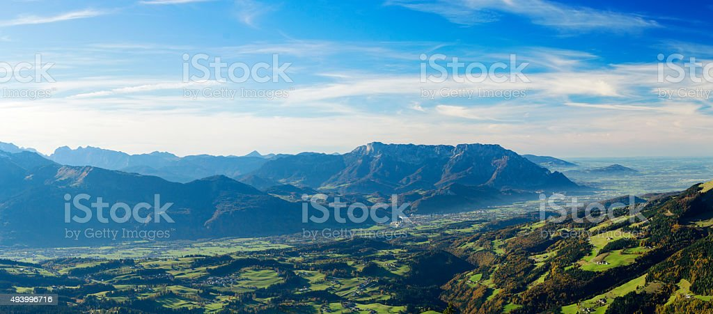 Panorama: Salzburger  Land, Untersberg stock photo