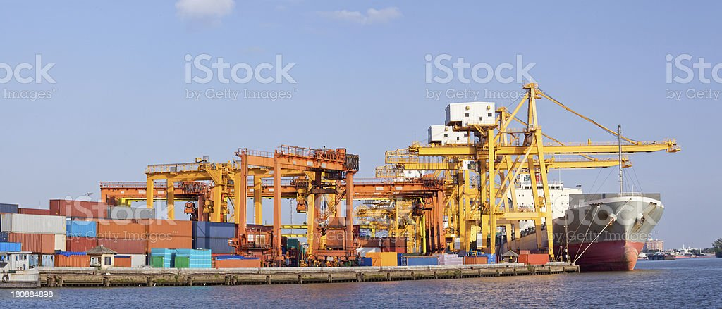 Panorama Shipping royalty-free stock photo