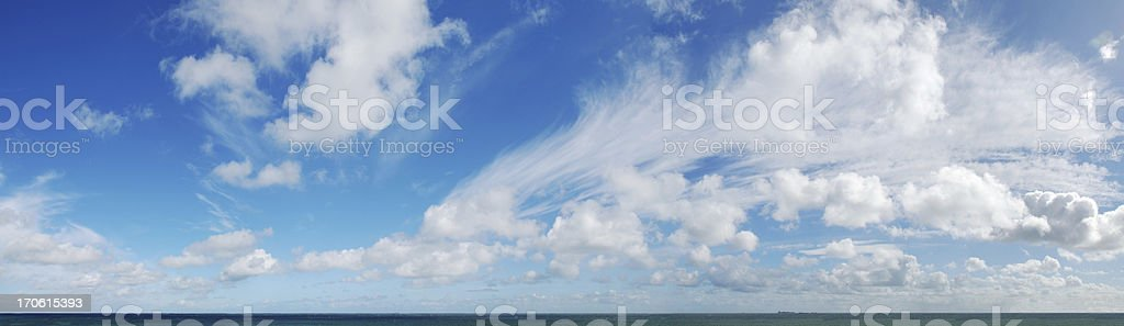 Panorama shot of horizon Over water (XXL) royalty-free stock photo