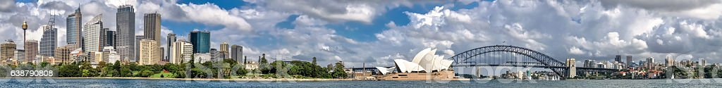 Panorama skyline Sydney, Australia stock photo