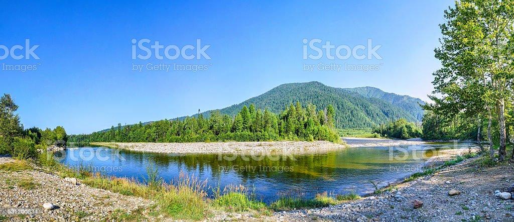 Panorama Snowy River stock photo
