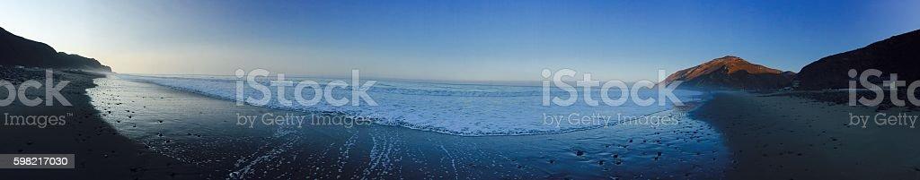 Panorama Sunrise Beach stock photo