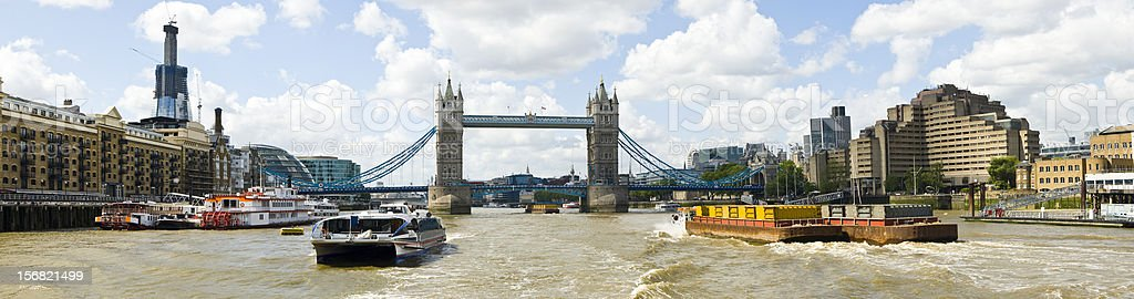 Panorama Thames and the Tower Bridge royalty-free stock photo