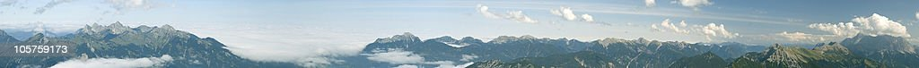 XXXL Panorama - the alpes view to germany royalty-free stock photo