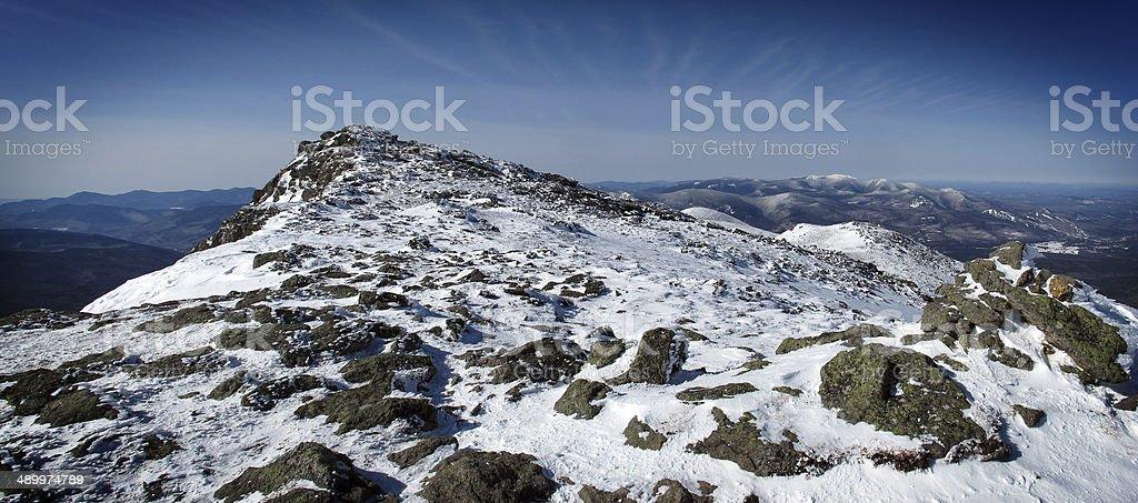 Panorama: The True Summit of Mt Monroe stock photo