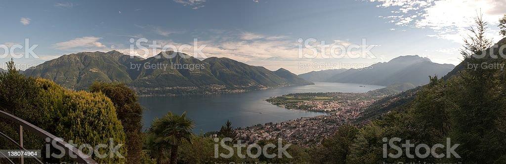 Panorama Ticino at evening royalty-free stock photo