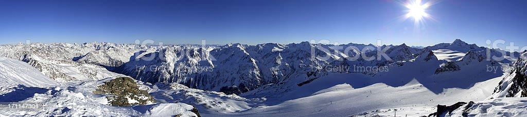 Panorama Tiefenbach - Glacier royalty-free stock photo