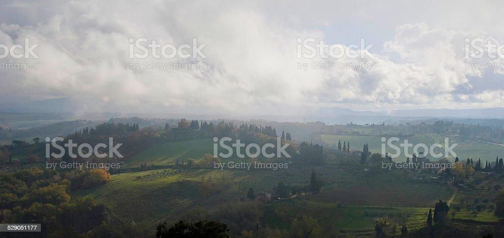Panorama toscano stock photo