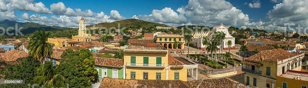Panorama Trinidad, Cuba stock photo