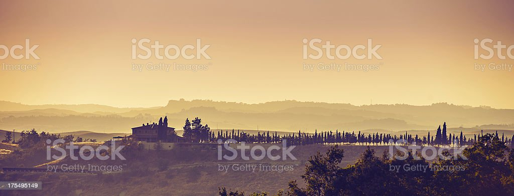 Panorama Tuscany Italy stock photo