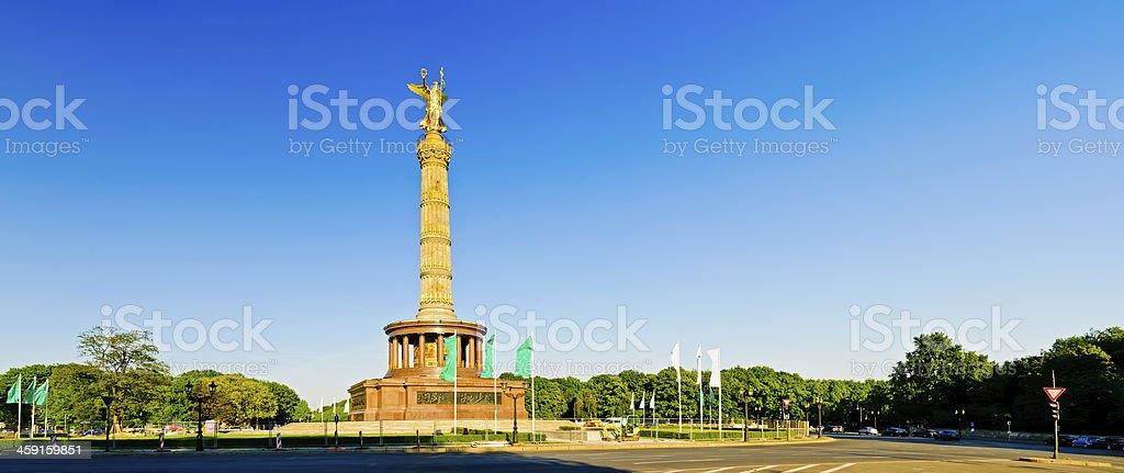 panorama victory column in berlin stock photo