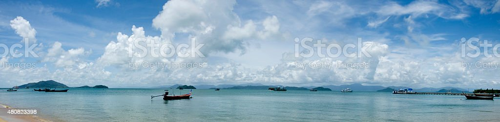 Panorama view at Pha Yam island, Thailand stock photo