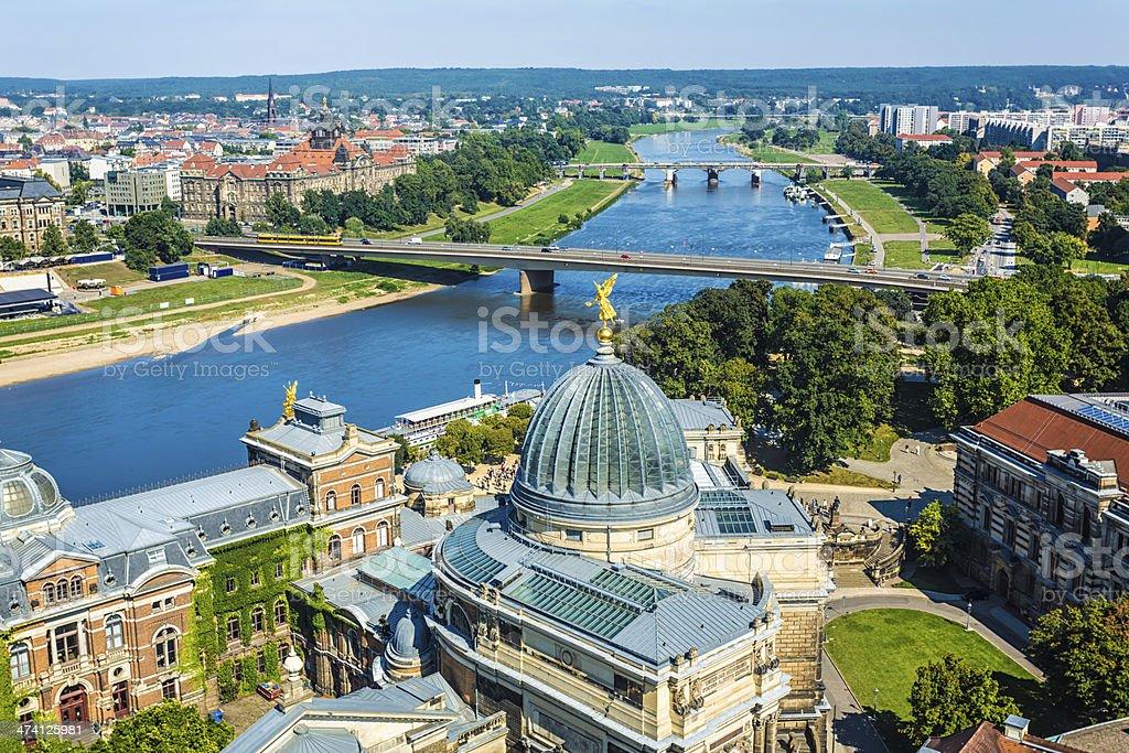 Panorama view, Dresden stock photo