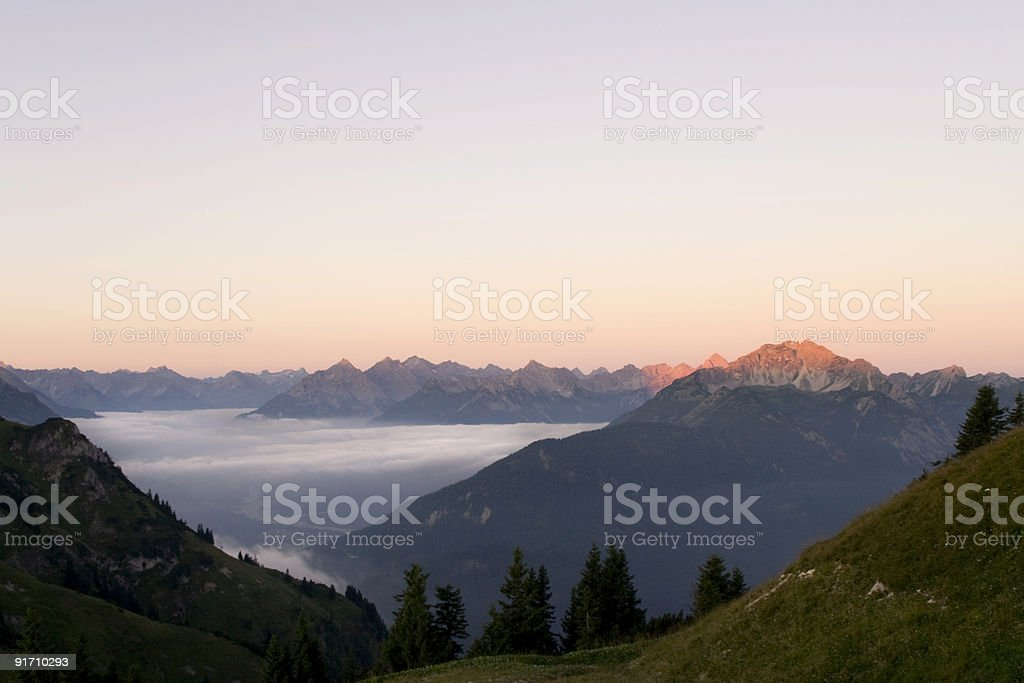 panorama view from mt. hahnenkamm royalty-free stock photo
