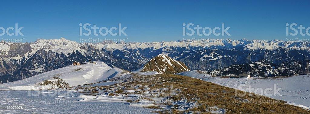 Panorama view from Pizol stock photo
