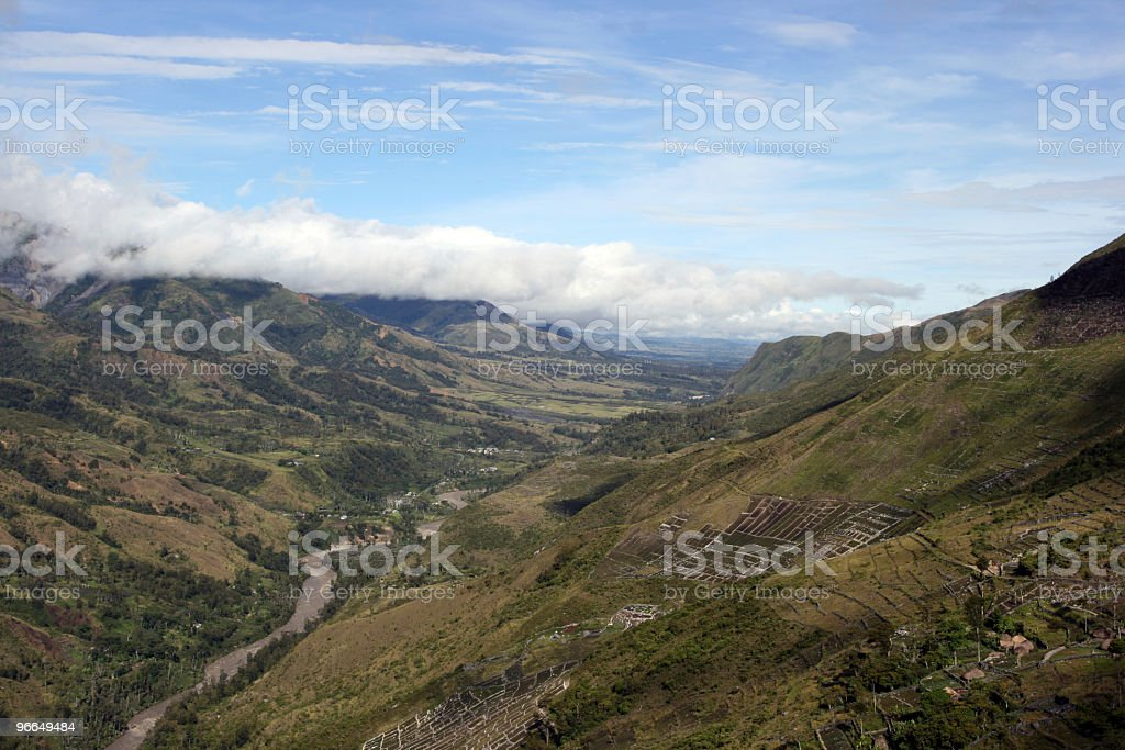 Panorama view of Baliem valley - Papua, Indonesia royalty-free stock photo