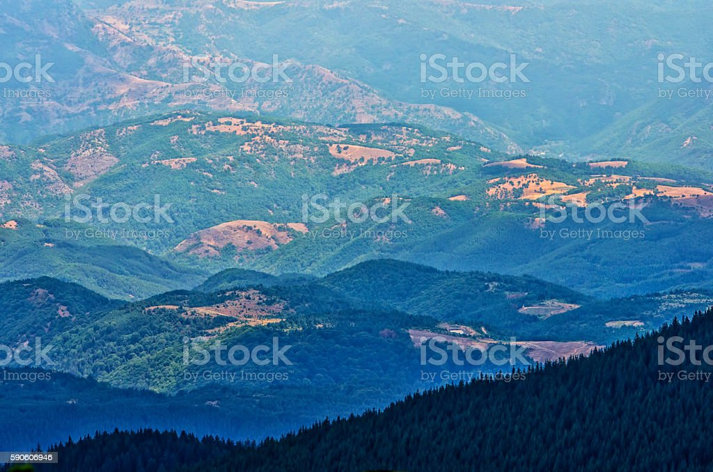 Panorama view of bulgarian mountain royalty-free stock photo