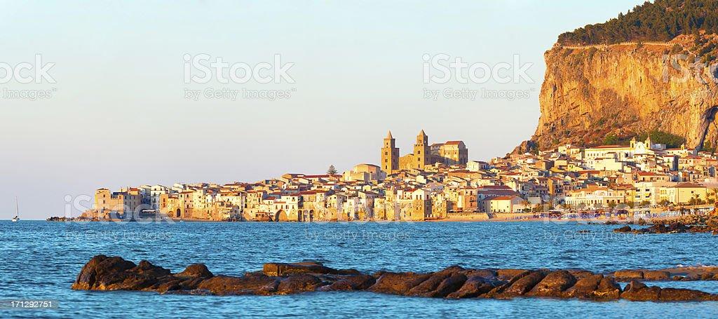 panorama view of Cefalu stock photo
